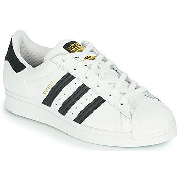 鞋子 儿童 球鞋基本款 Adidas Originals 阿迪达斯三叶草 SUPERSTAR J 白色 / 黑色