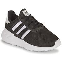 鞋子 男孩 球鞋基本款 Adidas Originals 阿迪达斯三叶草 LA TRAINER LITE EL I 黑色 / 白色