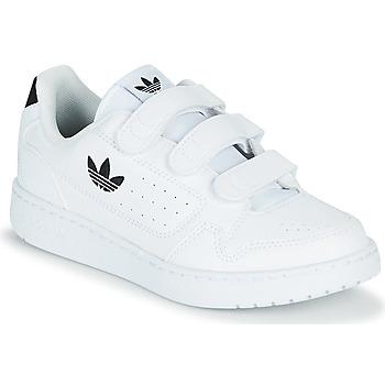 鞋子 儿童 球鞋基本款 Adidas Originals 阿迪达斯三叶草 NY 92  CF C 白色 / 黑色