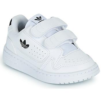 鞋子 儿童 球鞋基本款 Adidas Originals 阿迪达斯三叶草 NY 92 CF I 白色 / 黑色