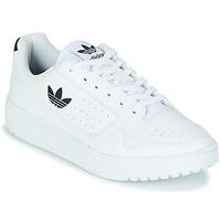 鞋子 儿童 球鞋基本款 Adidas Originals 阿迪达斯三叶草 NY 92 J 白色 / 黑色