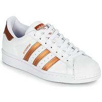 鞋子 女士 球鞋基本款 Adidas Originals 阿迪达斯三叶草 SUPERSTAR W 白色 / 古銅色