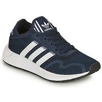 鞋子 儿童 球鞋基本款 Adidas Originals 阿迪达斯三叶草 SWIFT RUN X C 海蓝色