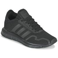 鞋子 儿童 球鞋基本款 Adidas Originals 阿迪达斯三叶草 SWIFT RUN X J 黑色