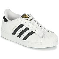 鞋子 儿童 球鞋基本款 Adidas Originals 阿迪达斯三叶草 SUPERSTAR C 白色 / 黑色