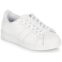 鞋子 儿童 球鞋基本款 Adidas Originals 阿迪达斯三叶草 SUPERSTAR C 白色