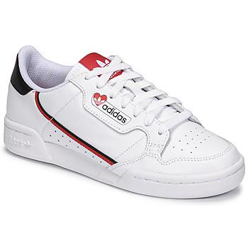 鞋子 女士 球鞋基本款 Adidas Originals 阿迪达斯三叶草 CONTINENTAL 80 白色 / 红色