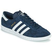 鞋子 男士 球鞋基本款 Adidas Originals 阿迪达斯三叶草 HAMBURG 海蓝色
