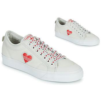 鞋子 女士 球鞋基本款 Adidas Originals 阿迪达斯三叶草 NIZZA  TREFOIL W 白色 / 红色