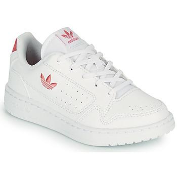鞋子 儿童 球鞋基本款 Adidas Originals 阿迪达斯三叶草 NY 92 C 白色 / 玫瑰色
