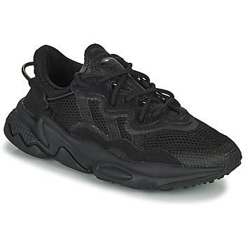 鞋子 儿童 球鞋基本款 Adidas Originals 阿迪达斯三叶草 OZWEEGO J 黑色