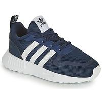 鞋子 儿童 球鞋基本款 Adidas Originals 阿迪达斯三叶草 SMOOTH RUNNER EL I 海蓝色 / 白色