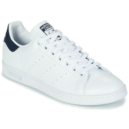 鞋子 球鞋基本款 Adidas Originals 阿迪达斯三叶草 STAN SMITH SUSTAINABLE 白色 / 海蓝色