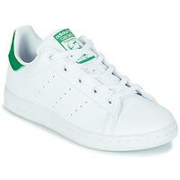 鞋子 儿童 球鞋基本款 Adidas Originals 阿迪达斯三叶草 STAN SMITH C SUSTAINABLE 白色 / 绿色