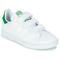鞋子 儿童 球鞋基本款 Adidas Originals 阿迪达斯三叶草 STAN SMITH CF C SUSTAINABLE 白色 / 绿色