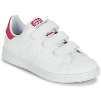 鞋子 女孩 球鞋基本款 Adidas Originals 阿迪达斯三叶草 STAN SMITH CF C SUSTAINABLE 白色 / 玫瑰色