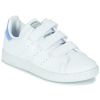 鞋子 女孩 球鞋基本款 Adidas Originals 阿迪达斯三叶草 STAN SMITH CF C SUSTAINABLE 白色 /  iridescent