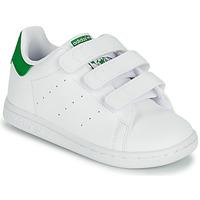 鞋子 儿童 球鞋基本款 Adidas Originals 阿迪达斯三叶草 STAN SMITH CF I SUSTAINABLE 白色 / 绿色