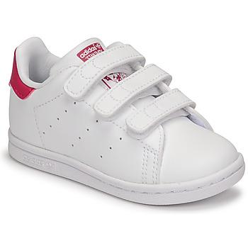 鞋子 女孩 球鞋基本款 Adidas Originals 阿迪达斯三叶草 STAN SMITH CF I SUSTAINABLE 白色 / 玫瑰色