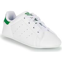 鞋子 儿童 球鞋基本款 Adidas Originals 阿迪达斯三叶草 STAN SMITH CRIB SUSTAINABLE 白色 / 绿色