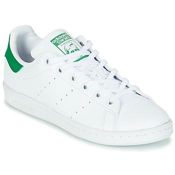 鞋子 儿童 球鞋基本款 Adidas Originals 阿迪达斯三叶草 STAN SMITH J SUSTAINABLE 白色 / 绿色