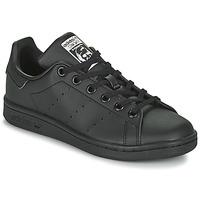 鞋子 儿童 球鞋基本款 Adidas Originals 阿迪达斯三叶草 STAN SMITH J SUSTAINABLE 黑色