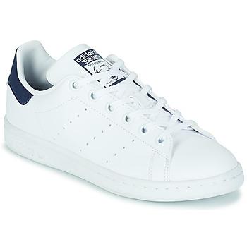 鞋子 儿童 球鞋基本款 Adidas Originals 阿迪达斯三叶草 STAN SMITH J SUSTAINABLE 白色 / 海蓝色