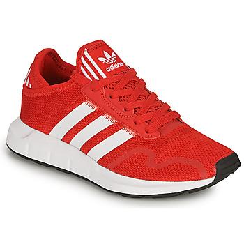 鞋子 儿童 球鞋基本款 Adidas Originals 阿迪达斯三叶草 SWIFT RUN X J 红色