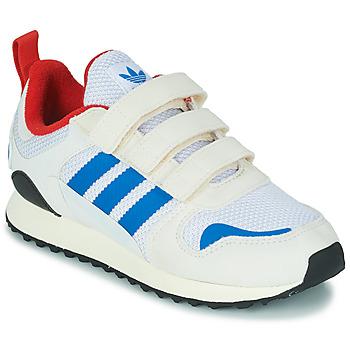 鞋子 儿童 球鞋基本款 Adidas Originals 阿迪达斯三叶草 ZX 700 HD CF C 米色 / 蓝色