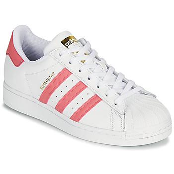 鞋子 女士 球鞋基本款 Adidas Originals 阿迪达斯三叶草 SUPERSTAR W 白色 / 玫瑰色