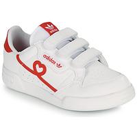 鞋子 女孩 球鞋基本款 Adidas Originals 阿迪达斯三叶草 CONTINENTAL 80 CF C 白色 / 红色