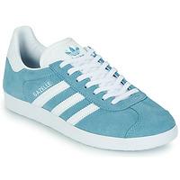 鞋子 女士 球鞋基本款 Adidas Originals 阿迪达斯三叶草 GAZELLE W 蓝色