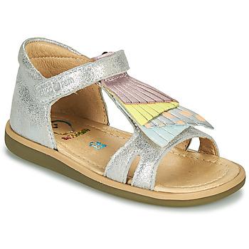 鞋子 女孩 凉鞋 SHOO POM by Pom d'Api TITY FALLS 银灰色