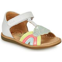 鞋子 女孩 凉鞋 SHOO POM by Pom d'Api TITY RAINBOW 白色