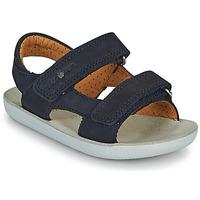鞋子 男孩 凉鞋 SHOO POM by Pom d'Api GOA BOY SCRATCH 蓝色