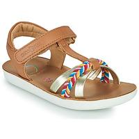 鞋子 女孩 凉鞋 SHOO POM by Pom d'Api GOA SALOME 棕色