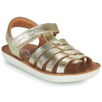 鞋子 女孩 凉鞋 SHOO POM by Pom d'Api GOA SPART 银灰色