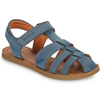 鞋子 男孩 凉鞋 SHOO POM by Pom d'Api SOLAR TONTON 蓝色