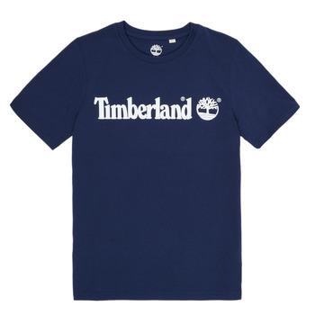 衣服 男孩 短袖体恤 Timberland 添柏岚 VUILL 海蓝色
