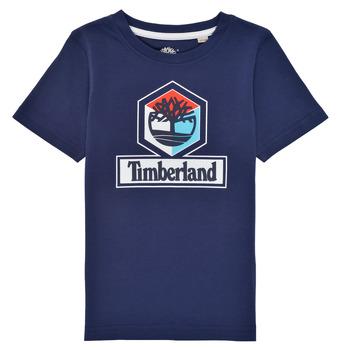 衣服 男孩 短袖体恤 Timberland 添柏岚 GRISS 海蓝色
