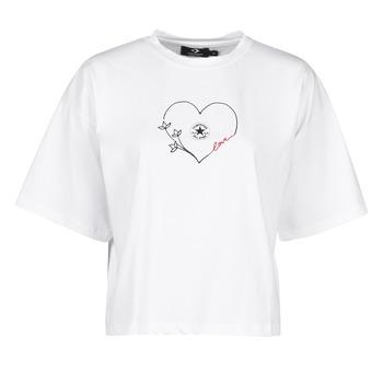 衣服 女士 短袖体恤 Converse 匡威 CHUCK WOMENS LOVE BOXY TEE 白色