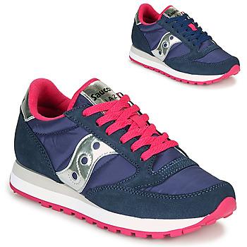 鞋子 女士 球鞋基本款 Saucony JAZZ ORIGINAL 蓝色 / 玫瑰色