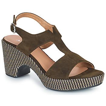 鞋子 女士 凉鞋 Adige ROMA V5 VELOURS MILITAR 卡其色