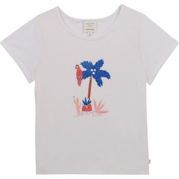 衣服 女孩 短袖体恤 Carrément Beau Y15383-10B 白色
