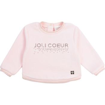 衣服 女孩 卫衣 Carrément Beau Y95254-44L 玫瑰色