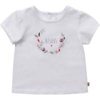衣服 女孩 短袖体恤 Carrément Beau Y95270-10B 白色