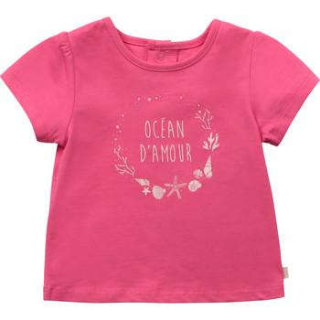 衣服 女孩 短袖体恤 Carrément Beau Y95270-46C 玫瑰色