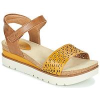 鞋子 女士 凉鞋 Josef Seibel CLEA 09 棕色 / 黄色
