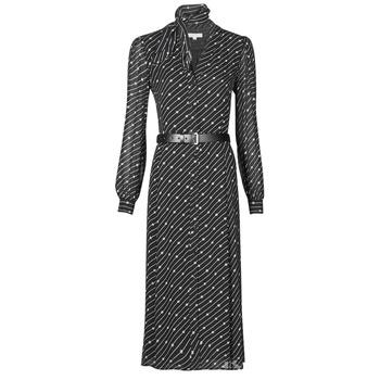 衣服 女士 长裙 Michael by Michael Kors CIRCLE LOGO SHRT DRS 黑色 / 白色