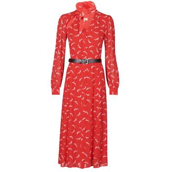 衣服 女士 长裙 Michael by Michael Kors SIGNTRE LOGO SHRT DRS 红色